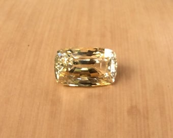 Yellow Sapphire Loose Gemstone - Natural 3 Carat Rectangular Cushion cut Sapphire for Your Laurie Sarah Custom Engagement Ring - LSG316