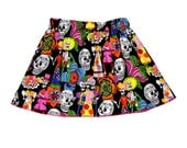 Sugar Skull - Punk Rock Baby -  Toddler Girl - Black Skirt - Day of the Dead - Girls Skirts - Baby Skirt - Toddler Skirt - 3m to 8