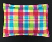 Plaid Flannel Corn Heating Pad, Flannel Corn Bags, Microwavable Heating Pad, Relaxation Gift, Massage Therapy - Bight Plaid Flannel