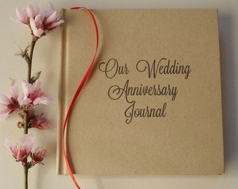 Our First Wedding Anniversary Journal · First Anniversary Gift · Wedding Anniversary Diary Keepsake · Paper Anniversary Gift · Gift for Her