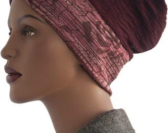Loc Soc Tube  Dread Headie Headband Sock Floral Print Headband Turban Hat Handmade
