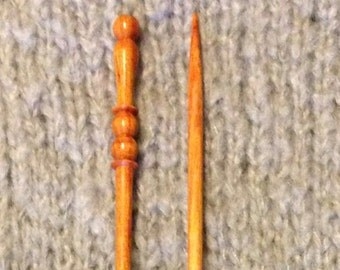 "US #5 X 10"" Single Point Tulip Wood Knitting Needles"