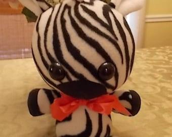 Hand Made Zebra Plush Soft Toy