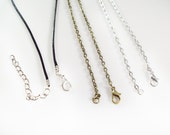 """30"""" Necklace Chain - One Single Necklace - Your Choice of Style"""