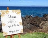Wedding Welcome Sign, Printable Large Wedding Sign, Custom Wedding Sign, Welcome to our Wedding Gold Printable, Wedding Silver, DIGITAL FILE