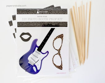SHOP the SHELF Rock Star DIY Photo Booth Prop Kit >> shipped to you | Paper and Cake