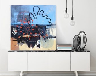Original Painting, Abstract Painting, Oversized Artwork, Contemporary Art, Original Artwork