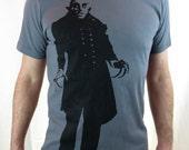Clearance-- Men's Gray Nosferatu Tshirt