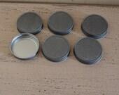 Tin mason Jar lid, mason jar, storage, tin lids, set of 6