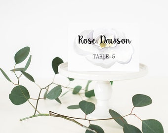 Wedding Place Cards - Magnolia Place Cards - Summer Weddings - Garden Place Cards - Folded Cards - Flat Cards - Printed Name Cards - Floral