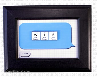 Science Name-sign - Text Bubble - WTF - Can be Personalized, Customized - Wall Hanging, Home Decor - iPhone, Android - Gift By ShopGibberish