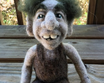 Custom Needle Felted Troll- Icelandic- OOAK- Troll- Doll