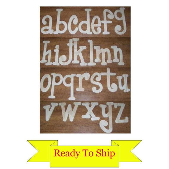 8 inch Wooden Letters in Whimsical Font -  Lowercase Only - In Stock and Ready to Ship