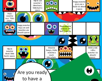 Printable Monster Board Game