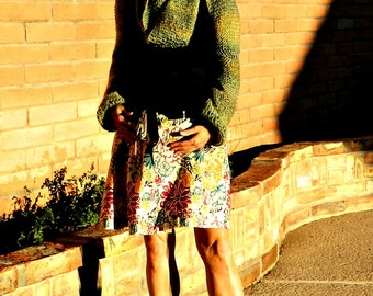 Bolero Shrug-Bolero Jacket-Knit Shrug-Shrugs and Boleros-Womens Shrugs-Maternity Teal Green-Grey-Black-Hand Knitted-Handmade in USA