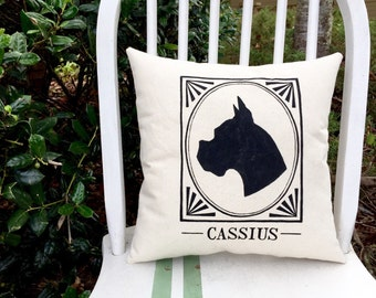 Personalized Dog Silhouette Pillow