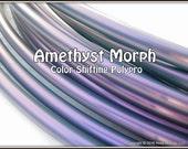 "NeW! Color-Shifting 'AMETHYST MORPH' Polypro!  3/4"" & 5/8"" OD Hoop Or Minis Set! Free Sanding Option."