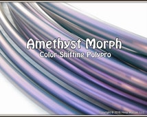 """NeW! Color-Shifting 'AMETHYST MORPH' Polypro!  3/4"""" OR 5/8"""" Polypro Hoop Or Minis Set! Free Sanding Option."""