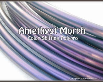 "NeW! Color-Shifting 'AMETHYST MORPH' Polypro!  3/4"" OR 5/8"" Polypro Hoop Or Minis Set! Free Sanding Option.Pro Hoops with Over 30,000 Sold!"