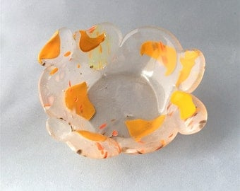 Citrus Optic POD Bowl - Recycled Fused Glass