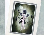 Art Card & Envelope - Bat Girl - Moonlighting