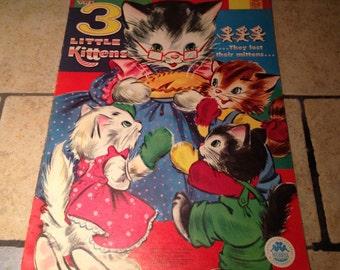 1960 Three Little Kittens Soft Cover Children's Book