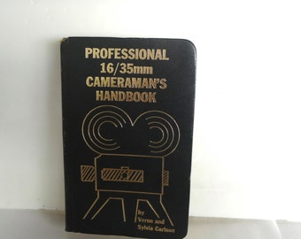 Professional 16 And  35 MM Cameramans Handbook Vintage 1970 Some Wear
