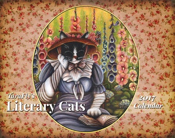2017 Literary Cats Calendar, Original Cat Art by TaraFly