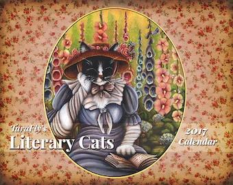 2017 Literary Cats Calendar, Original Cat Art by TaraFly