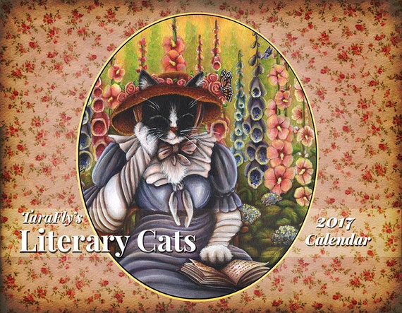 CLEARANCE 2017 Literary Cats Calendar