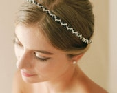 Silver crystal headband, wedding crystal headpiece, rhinestone headband, grecian headband - style 244