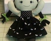 Witch Rag doll Calico ready to ship