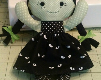 Witch Rag doll Calico made to order