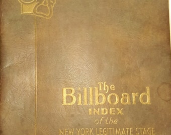 The Billboard Index of the New York Legitimate Stage, Theater, Music, Plays