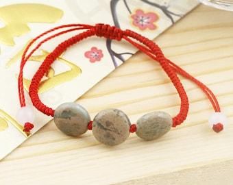 Good faith unisex bracelet - red thread, imperial jasper