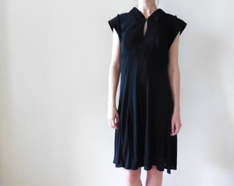 Karl Lagerfeld Black Button Back Dress As-is