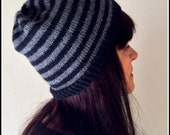 Knitting Pattern Adult Size Sport Weight Slouchy Hat