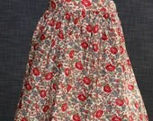 REDUCED PRICE.  1950' s  Styled Gathered Skirt . Vintage Floral Fabric