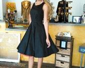 Audrey hepburn breakfast at tiffany's black dress vintage inspired retro dress, womens dresses  - TIFFANY style