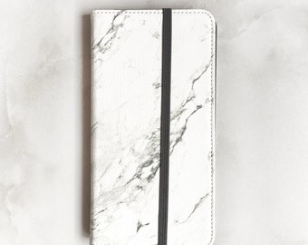 Marble Wallet Phone Case, iPhone 6S Plus Minimalist Wallet Case iPhone 6 Folio Case iPhone 7 Plus Marble