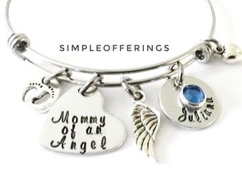 Mommy of An Angel Bracelet, Angel Baby, Miscarry Keepsake, Miscarriage, Baby Remembrance, Infant loss, In Memory of Baby, Baby Loss