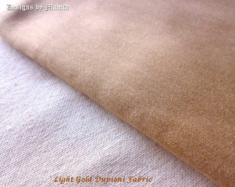 Light Gold Art Silk Dupioni Indian Fabric By The Yard, Dressmaking Tablecloth Fabric, Curtains Making Fabric, Bridesmaid Fabric, Silk Fabric
