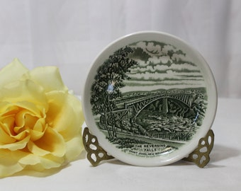 Burleigh Collector's Series Plate, Pin Dish, Atlantic Canada, The Reversing Falls, Saint John, New Brunswick
