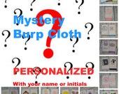 Personalized Burp Cloth - Mystery Grab Bag Girl or Boy Burp Cloth You Choose