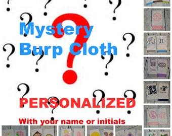 Personalized Burp Cloth - Mystery Grab Bag Girl or Boy Burp Cloth You Choose