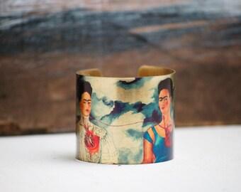 The Two Fridas BRACELET Frida Kahlo Art Bracelet Las dos Fridas Bohemian Cuff