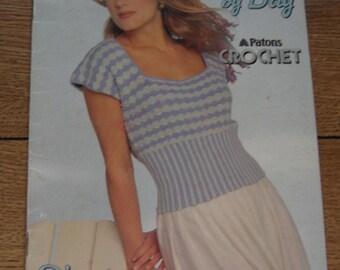 vintage 80s crochet patterns misses summer tops sz S-M-L
