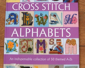 2003 cross stitch Alphabets 50 themed A-Zs children hc