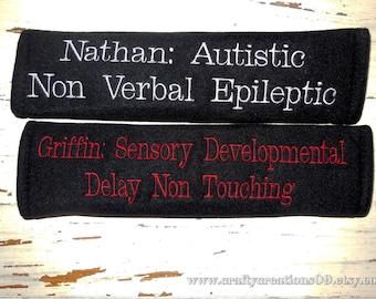 Medical Alert,  Special Needs Seat Belt Cover