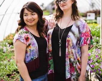 Kimono, Floral Kimono, Festival Clothing, Kimono Coverup, Boho Kimono, Kimono Cardigan, Summer Coverup
